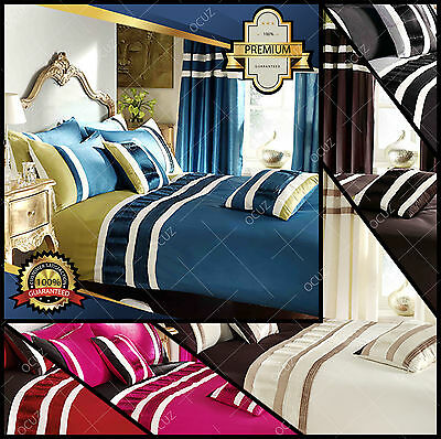 Valencia Duvet Quilt Cover Bedding Set Sizes Single Double King Super King •