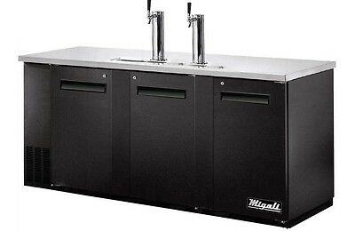 Migali Commercial Direct Draw Refrigerator Cooler Beer Dispenser C-DD72-3