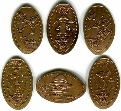 Phineas & Ferb Plus Agent P. Collection Of Six All Copper Pressed Pennies