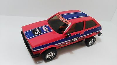 SLOT 1:32 SCALEXTRIC EXIN FORD FIESTA ref.4057 RED MADE IN SPAIN 1980