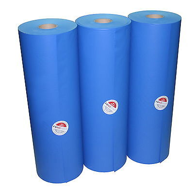 [1,49€/kg] 3-reel Bogus paper Screwed up Wrapping FANODUST 80g/m² blue