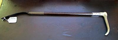 Stunning 'SWAINE' Gents/Ladies Hunting Whip with Silver Collar 1923