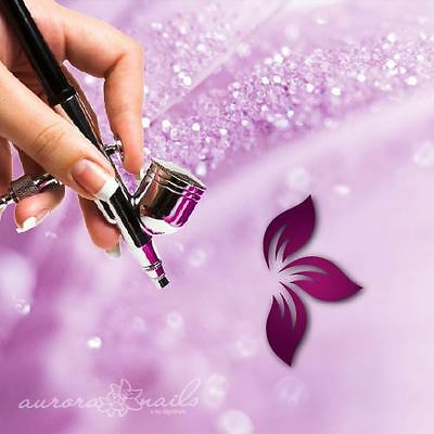 Airbrush sticky templates - B117 - NAILART 80 Pieces Flowers Blossoms Leaves