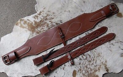 "5"" Wide Soft Oiled Rear Girth or Flank Cinch With Billets New Horse Tack US Made"