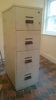 Chubb 4 Drawer Fire Proof Safe Filing Cabinet With Key
