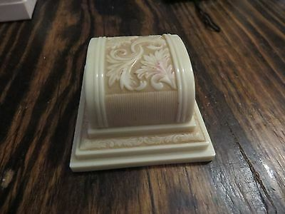 Antique Art Deco Cream Color Ring Presentation Box Barneys Jeweler