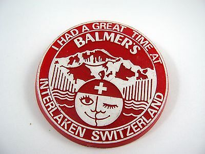 Vintage Collectible Pin: Interlaken Switzerland Balmer's I Had A Great Time At
