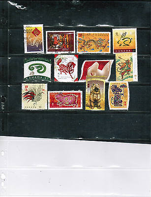 CHINESE NEW YEAR  12  CANADA (YEAR OF) cat $12.00+ LOT 802a