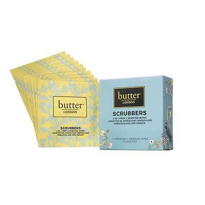 butter LONDON Nail Lacquer Remover Scrubbers Set of 10 wipes, NEW + FREE P&P