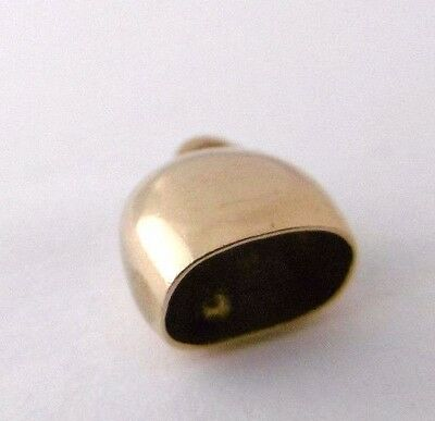 Vintage  A COW BELL  9ct rose gold miniature charm  1.2g