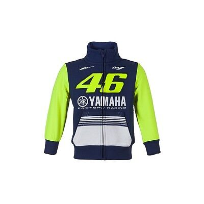 New 2017 VR46 Official Yamaha Rossi Kids Zip Fleece YDKFL 272703 / 272803