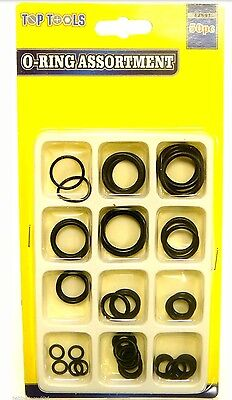 50pc Rubber O-Ring Tap Washers Gasket Seal Assorted Plumbing Diesel Petrol Water