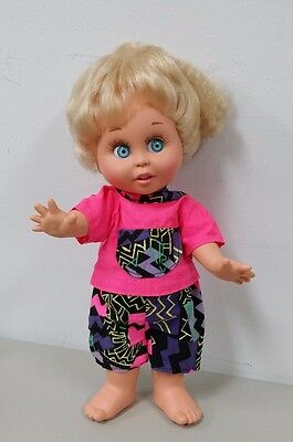 Baby Face Galoob Size Hot Pink Shirt w/ Multi Colored Pocket & Shorts Outfit