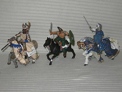 6 X NEW Papo Figurines - Prince Of Bright - Gaul - Prince Phillip + Horses