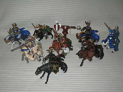 17 X NEW Papo Figurines - Mounted Warriors - Jousting Dummy - Knights & Horses