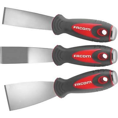 Facom 3pc Stainless Steel Scraper Scraping Tool Set Straight Angled Blade 235.J1