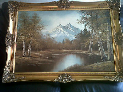 *Landscape Oil on Canvas Painting by G WhiTman*