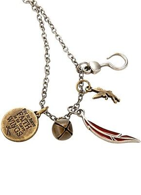 Disney Peter Pan Interchangeable Multi Charm Necklace Tinkerbell Hook NWT!