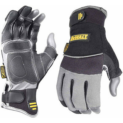 DeWALT Framer Gloves 3 Finger Synthetic Leather, XL