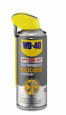 WD-40 Specialist 400ml High Performance Silicone Spray Metal Plastic Rubber WD40