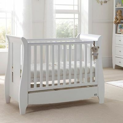 Tutti Bambini Katie Cot Bed in White + Sprung Mattress