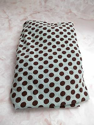 Unisex Baby Turquoise & Brown Polka Dot Pack N Play Fitted Sheet