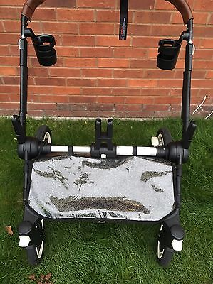 Bugaboo Donkey Duo Underseat Basket Raincover, In Glitter, Clear Or Black.