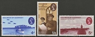 GUERNSEY SG33-35 1970 LIBERATION Unmounted Mint