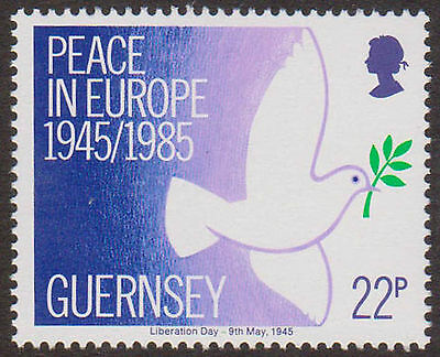 GUERNSEY SG337 1985 PEACE 40th 1v Unmounted Mint