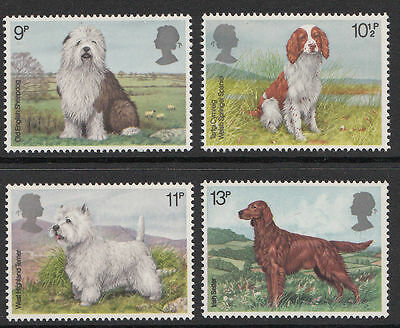 SG1075-1078 1979 DOGS 4v Unmounted Mint