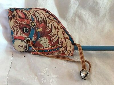 Gong Bell Tin Wood Litho Hobby Horse Toy