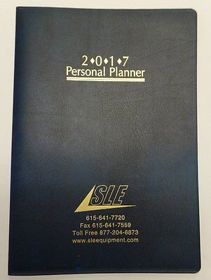 2017 Academic Monthly Day Daily Planner Organizer Calendar  7x10 Blue
