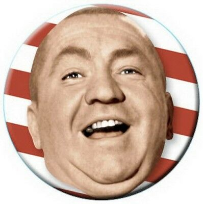 Three Stooges Curly Flag Button 81263