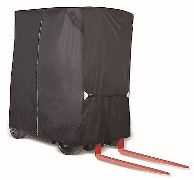 Forklift Heavy Duty Rugged Storage Cover Black - Fits up to 8,000 Pound