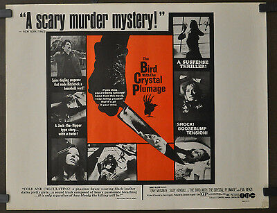 The Bird With The Crystal Plumage 1970 Orig. 22X28 Movie Poster Dario Argento