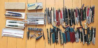Fountain Pen Lot 50+ For Parts Spares Or Repair Some Gold Nibs