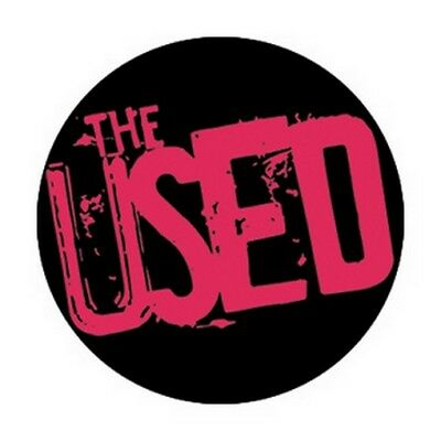 The Used Red Logo Button B-4197