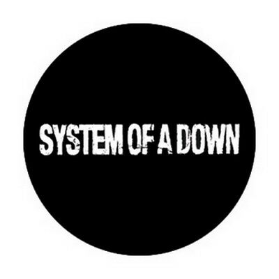 System of A Down Distressed Logo Button B-2858