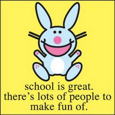 Happy Bunny School is Great Button B-HB-0023