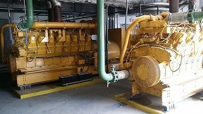 1500 KW Caterpillar 3516 Diesel Generator Set w/ Radiator 480 Volts ~1000 Hours