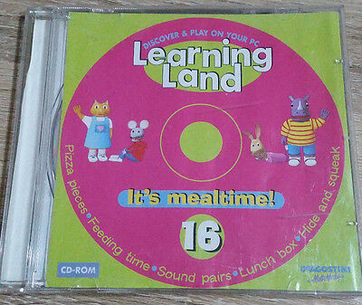Learning Land-Discover & Play On Your Pc-Cd-Rom 16# *it's Mealtime*