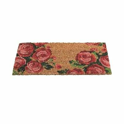 Gardman Tea Rose Patterned Coir Doormat 82488  23x53cms PVC Backed Insert