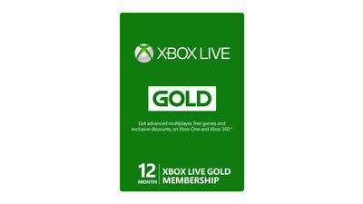 Xbox Live FIFA 15 12-Month Gold Membership Card