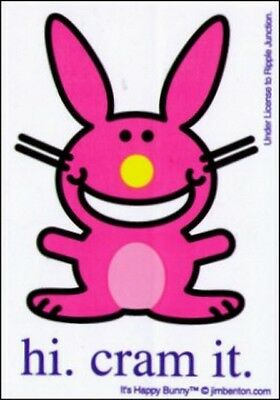 Happy Bunny Hi Cram It Sticker