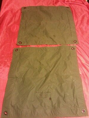 Aircraft Bomber Fighter Plane Airforce Raf Cover Fuselage Window 1985 Pair Of