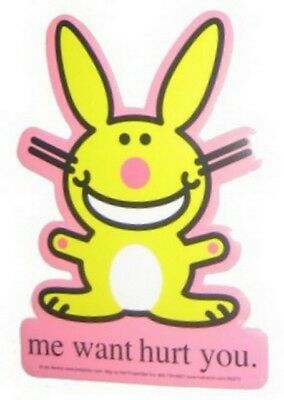Happy Bunny Fingers Sticker
