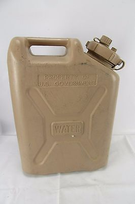 Military Water Can Plastic 5 Gallon Storage Container Desert Tan Emergency 20L
