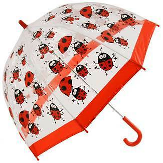 Bugzz PVC Dome Umbrella for Children - Ladybirds and Brollies