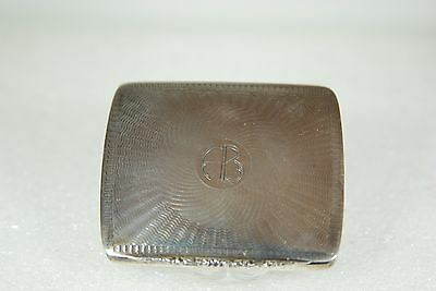 Solid Sterling Silver Vintage Antique Cigarette/business Card/pill Box