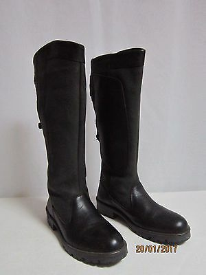 Dubarry Clare Black Leather Gore Tex Country Equestrian Boots Size 38 Uk 5